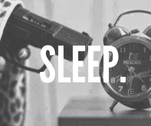sleep, gun, and clock image