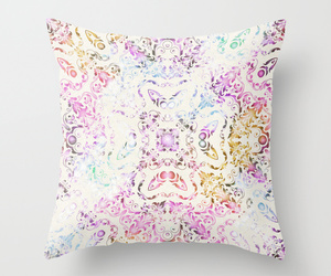 bohemian, floral, and throw pillow image
