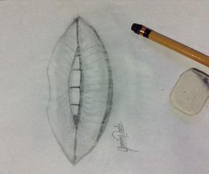 beautiful, drawing, and lips image