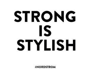 strong, quote, and stylish image