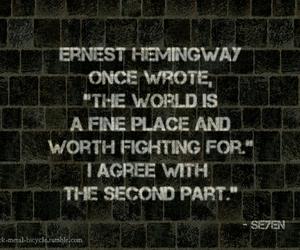 ernest hemingway, life, and morgan freeman image