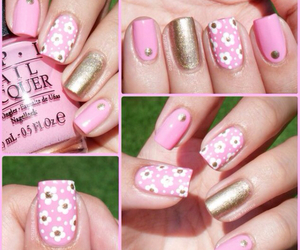 gold, nail art, and nails image