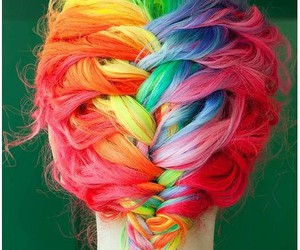 colors, colorful, and hairspiration image