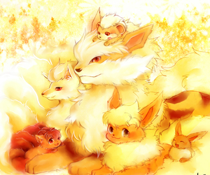pokemon, eevee, and fire image