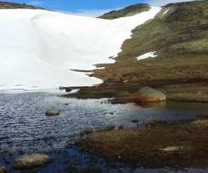 july, norway, and snow image