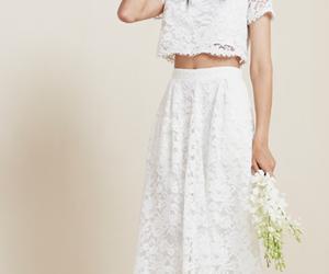 boho, bride, and lace image