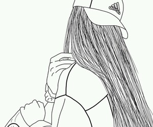 outline, adidas, and drawing image