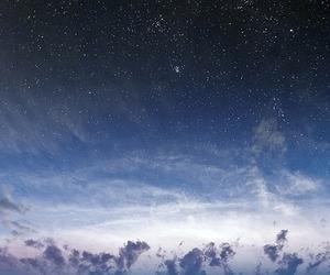 city, sky, and stars image