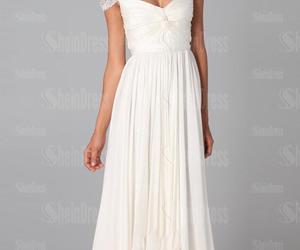 beautiful, simple, and wedding dress image