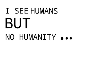 but, human, and humanity image