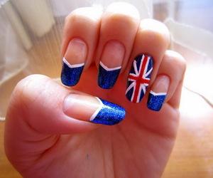 nails, blue, and british image