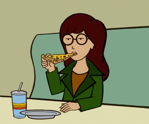 Daria, pizza, and gif image