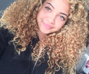 curly hair, beauty, and hair image