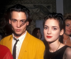 johnny depp, winona ryder, and 90s image