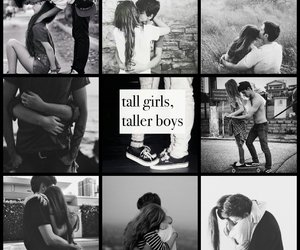 black and white, boys, and girlfriend image