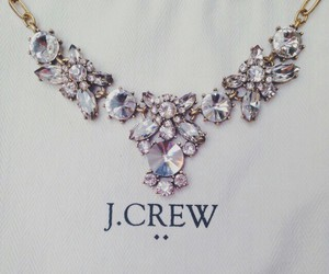 necklace, J.Crew, and diamond image