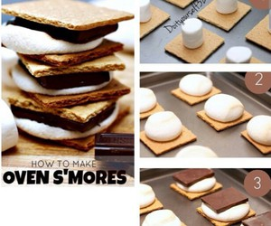 chocolate, diy, and smores image