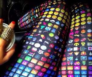emoji, outfit, and leggings image