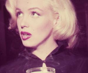 b&w, Marilyn Monroe, and hair image