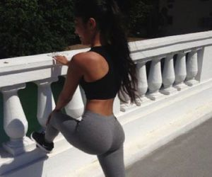 girl, workout, and body image