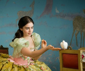lily collins and snow white image