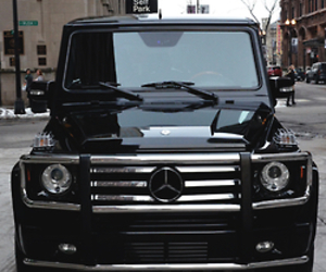 car, black, and mercedes image