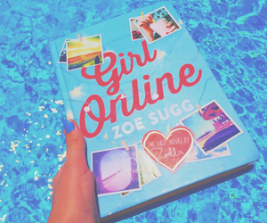 book, pool, and summer image