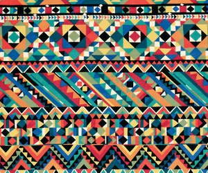 pattern, aztec, and colorful image