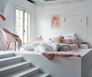 bedroom, white, and cool image