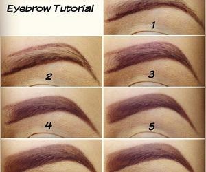 diy, eyebrow tutorial, and makeup image