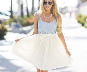 class, girly, and skirt image