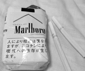 cigarette, marlboro, and white image