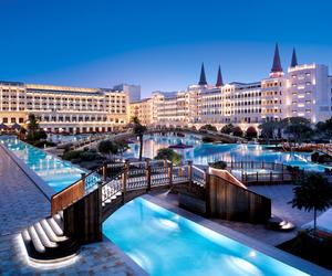luxury, hotel, and pool image