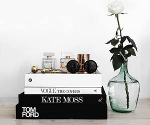 books, fashion, and flower image