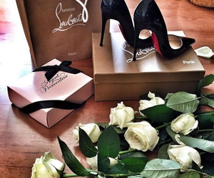 louboutin, luxury, and roses image