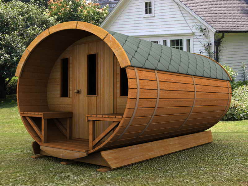 Beautiful Garden Sheds Design Ideas With Cylinder Shaped And ...
