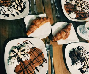 breakfast, chocolate, and eat image