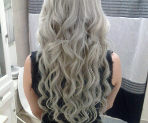 curls, grey, and hair image