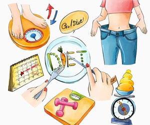 diet, exercise, and health image