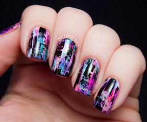 nails, nail art, and colors image