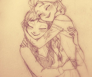 anna, frozen, and hug image