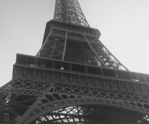 black and white, city, and eiffel image