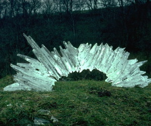 andy goldsworthy and ice arch image