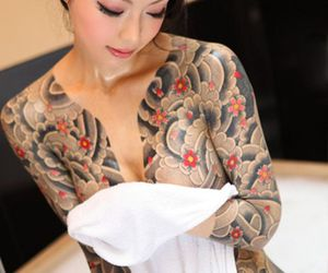 tattoo, sexy, and woman image