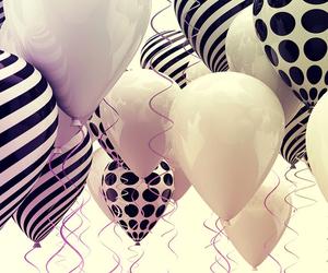 balloons, wallpaper, and black image