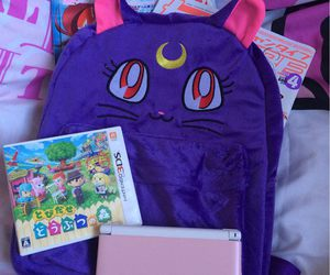 animal crossing, bag, and ds image