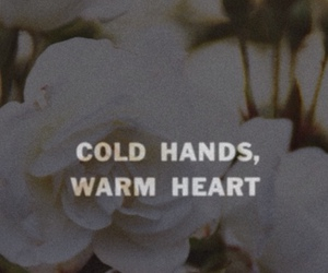 quote, cold, and flowers image