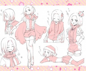 anime, pink, and poses image