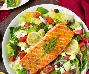 greek, healthy, and salad image