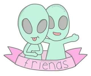 alien, friends, and overlay image